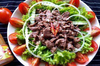 Cách làm salad xà lách trộn dầu giấm thịt bò Ngon mà Healthy