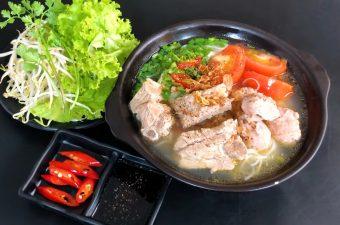 Cách nấu bún sườn chua dọc mùng Ngon Bổ Rẻ cho bữa sáng