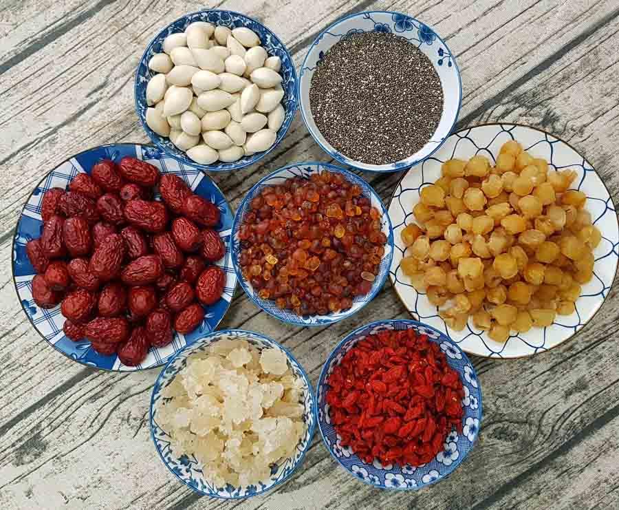 nguyên liệu nấu chè dưỡng nhan