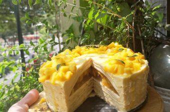 Cách làm bánh crepe xoài bằng chảo mềm thơm, béo ngậy cực dễ
