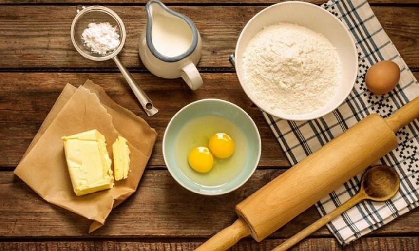 nguyên liệu làm phần vỏ bánh mì