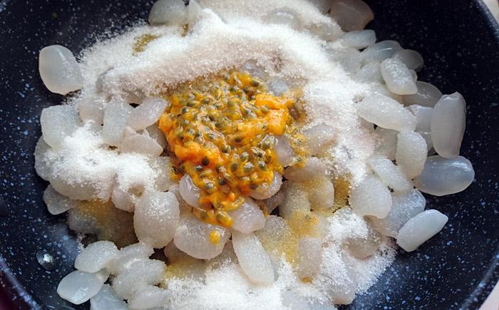 ướp hạt đác với chanh leo
