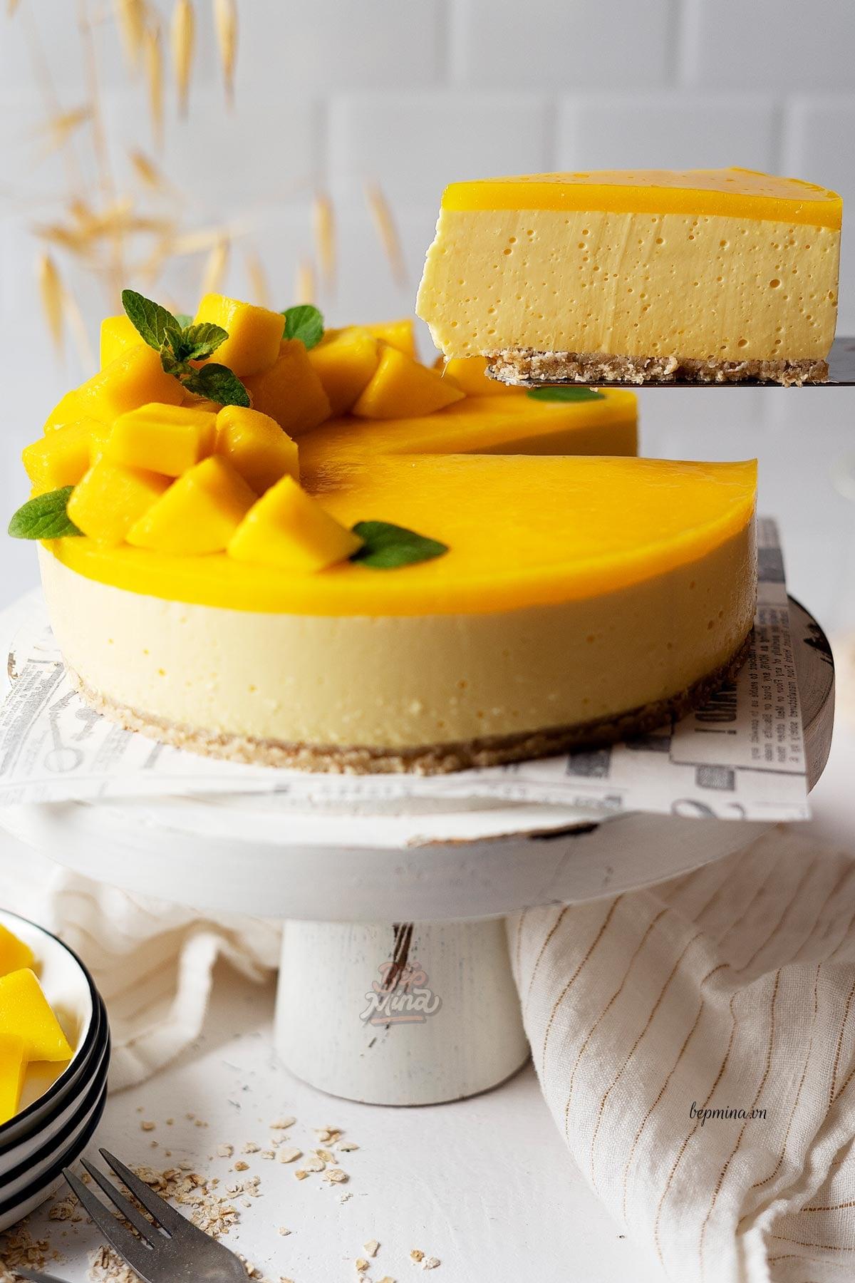 bánh cheesecake xoài ngon