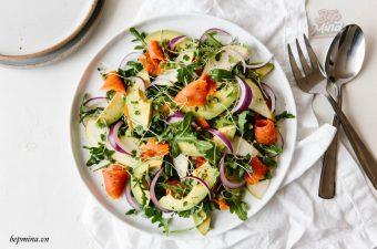 [MỚI] Cách làm salad cá hồi Ngon, Hấp dẫn, Sốt trộn độc đáo