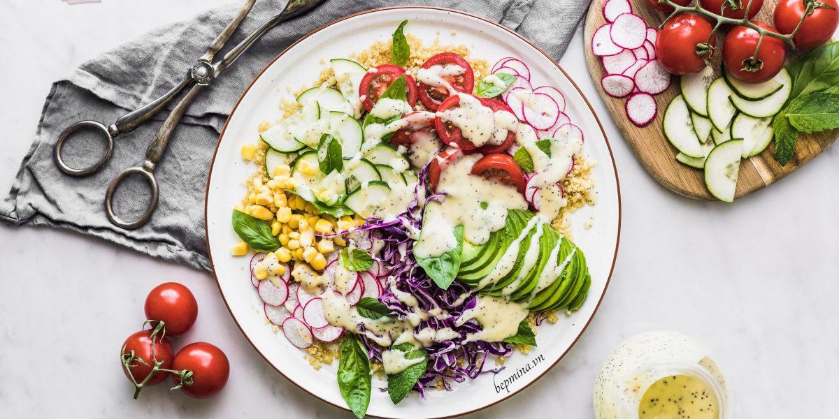 cách làm salad quinoa