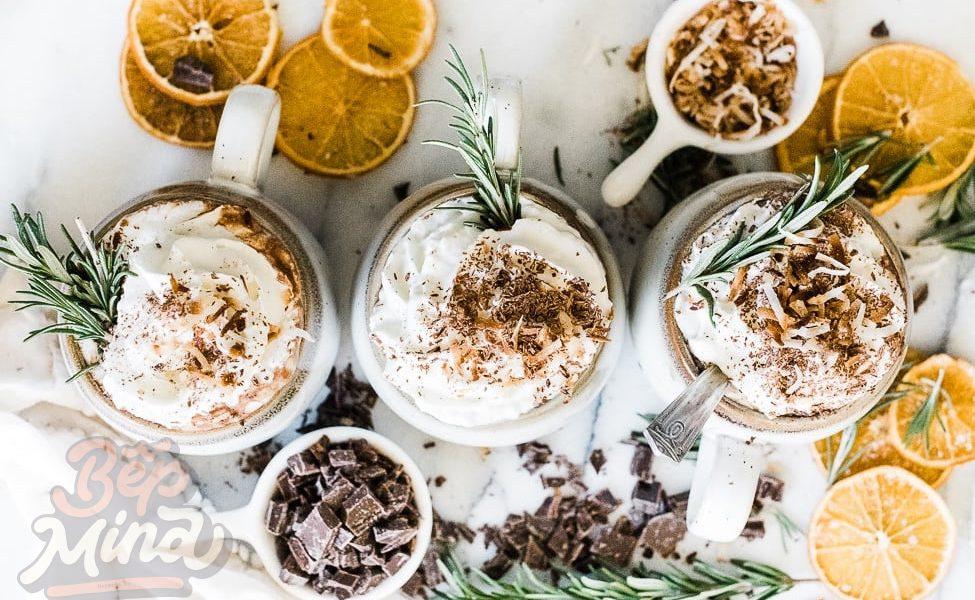cách pha chocolate nóng sữa dừa