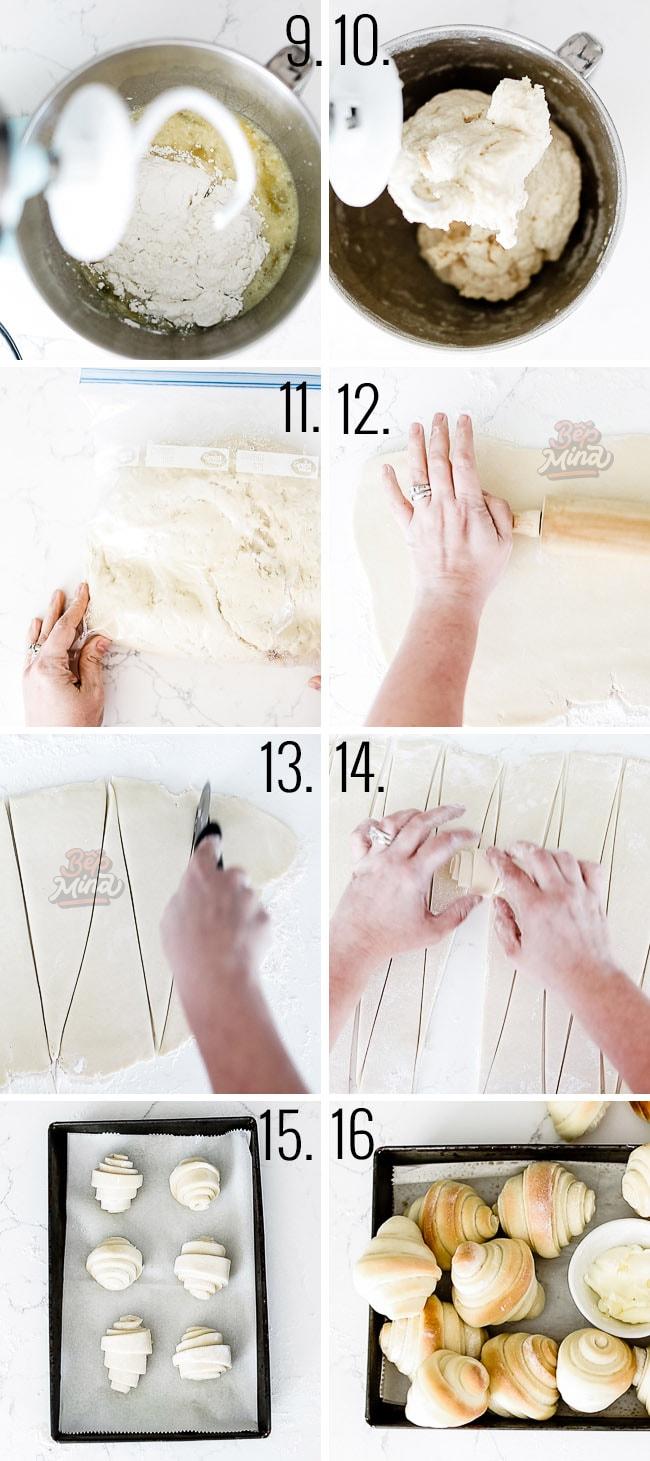 tạo hình bánh mì xoắn ốc