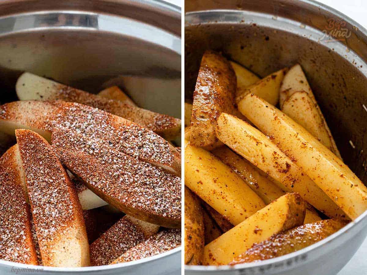 làm khoai tây chiên bằng lò nướng