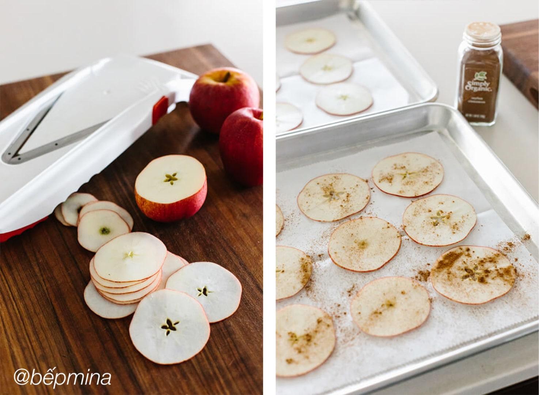 làm snack táo nướng