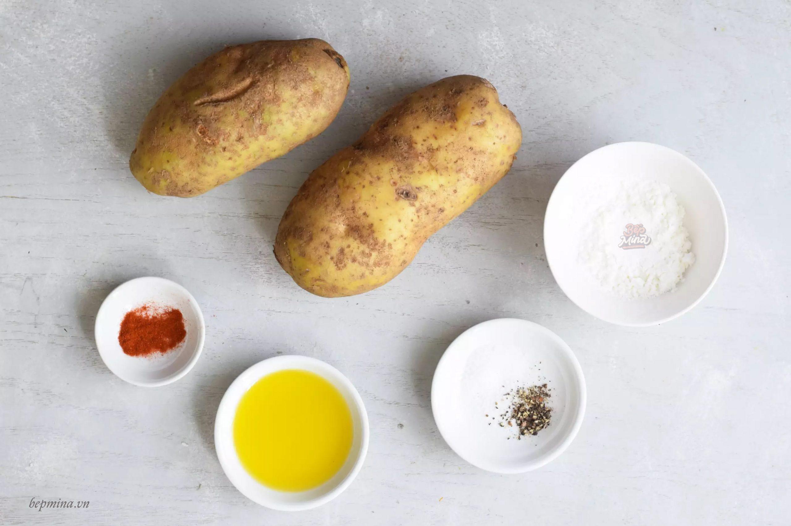 Nguyên liệu làm khoai tây chiên