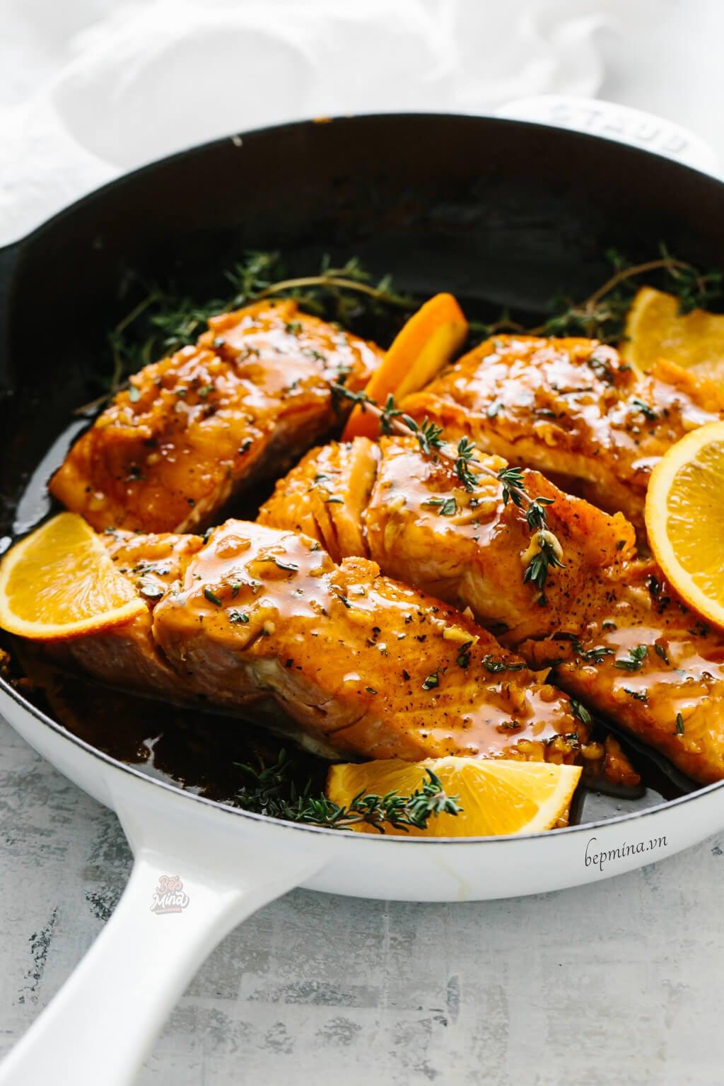 cách làm cá hồi sốt cam