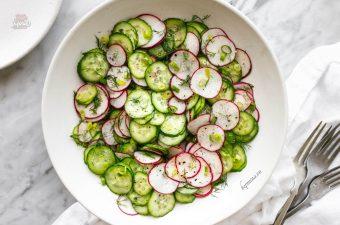 cách làm salad dưa chuột củ cải