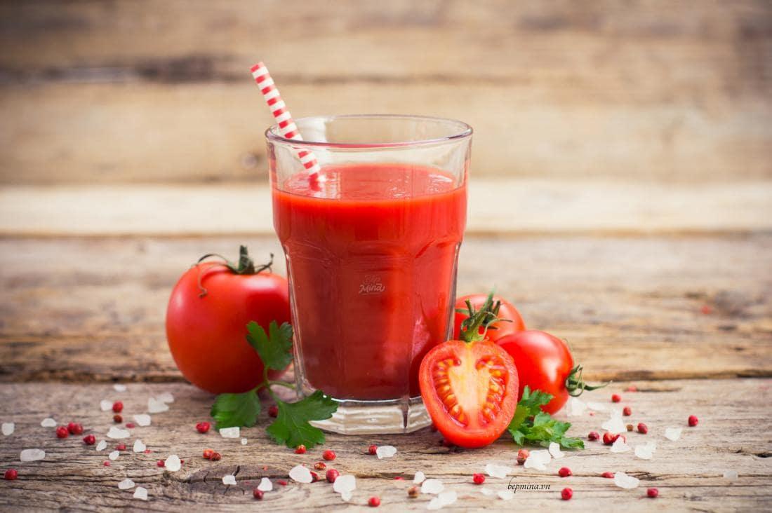 cách làm sinh tố cà chua