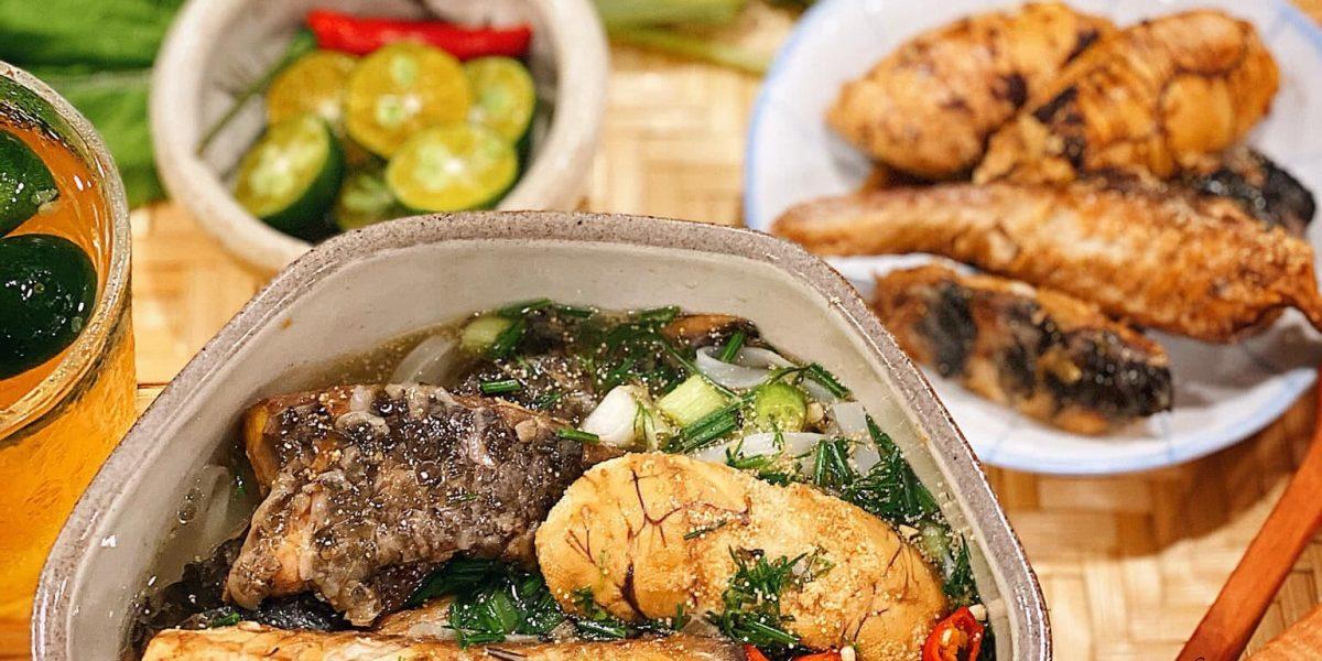 canh rau cải cá rô đồng