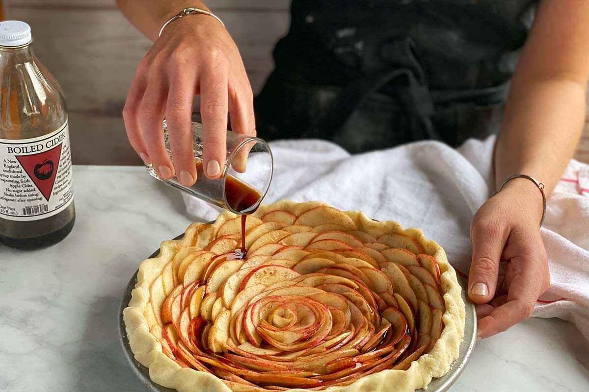 cách làm bánh táo hoa hồng lớn