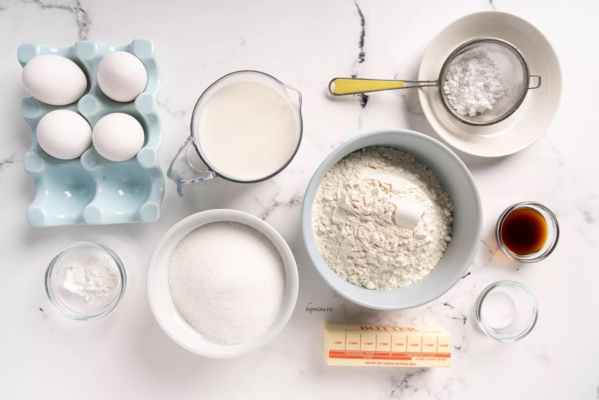 nguyên liệu làm bánh sữa tươi chiên