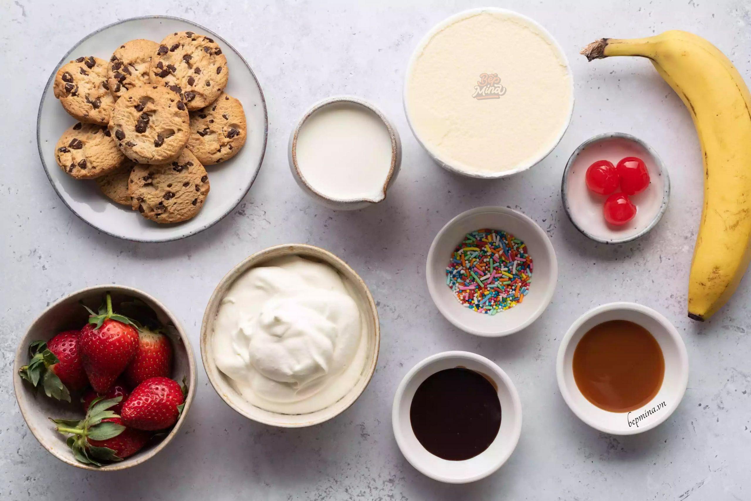 nguyên liệu làm sữa lắc Cookie