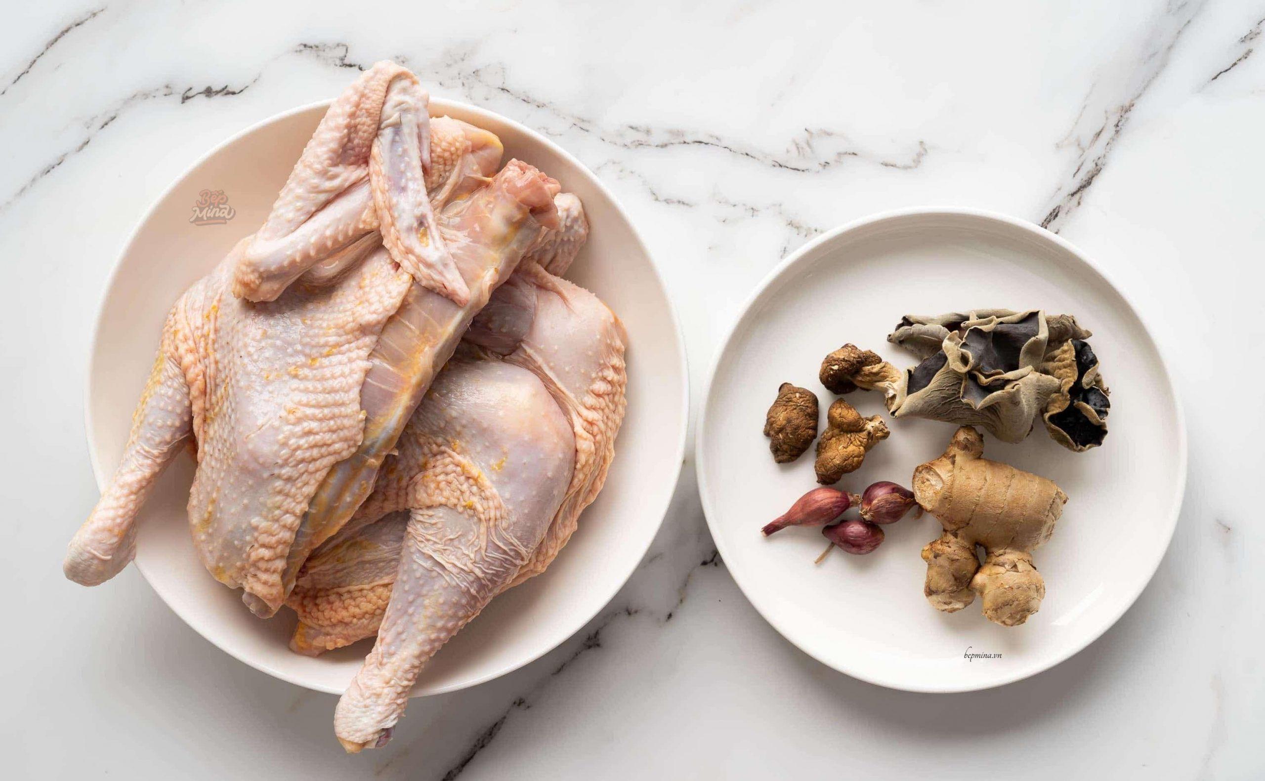 nguyên liệu nấu miến gà