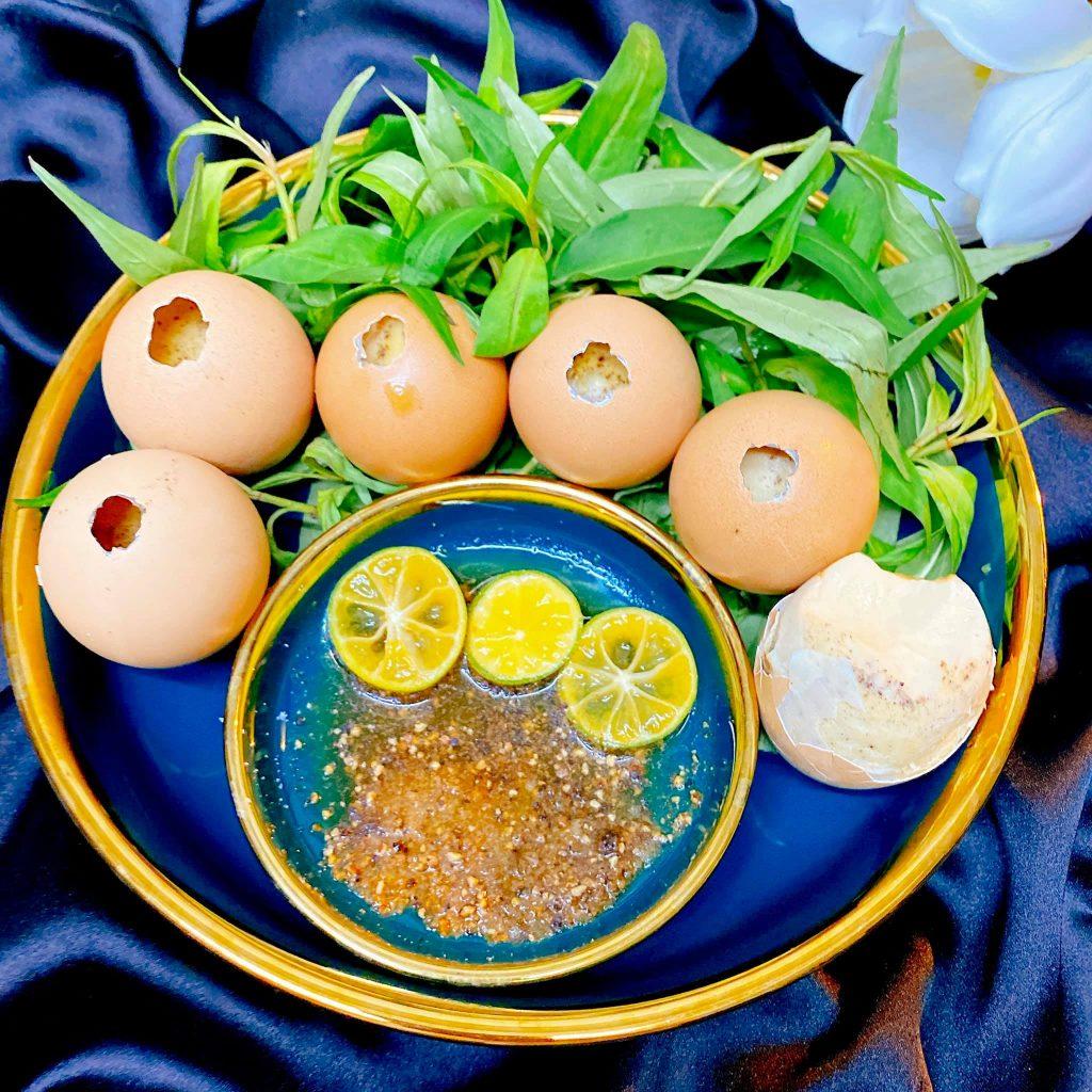 cách làm trứng gà nướng