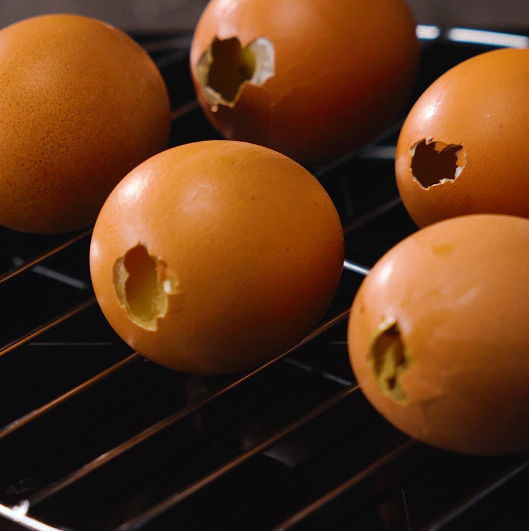 nướng trứng gà