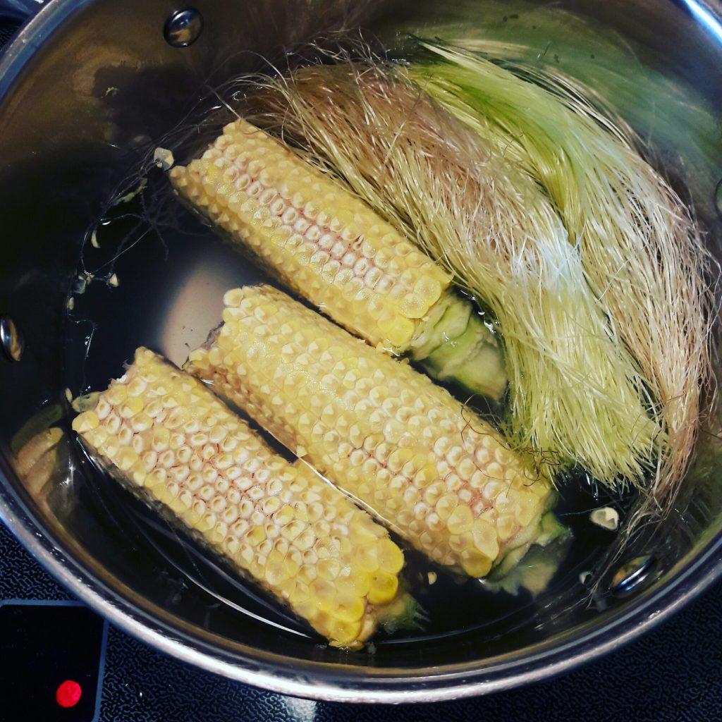 nấu chè bắp